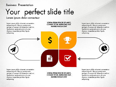 Creative Sleek Modern Presentation Template, 03011, Presentation Templates — PoweredTemplate.com