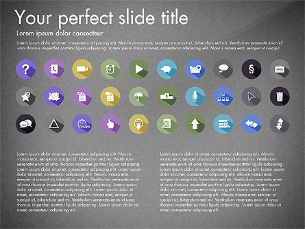 Flat Icons Collection, Slide 11, 03013, Icons — PoweredTemplate.com