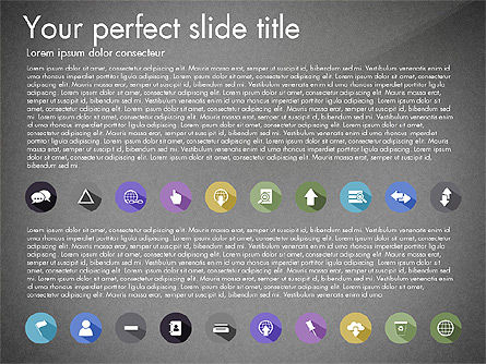 Flat Icons Collection, Slide 14, 03013, Icons — PoweredTemplate.com