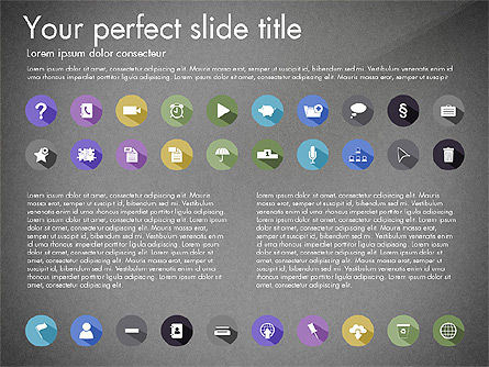 Flat Icons Collection, Slide 9, 03013, Icons — PoweredTemplate.com