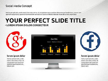 Presentation Templates: Modelo de conceito de apresentação de mídia social #03014