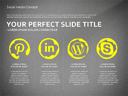 Social Media Presentation Concept Template, Slide 10, 03014, Presentation Templates — PoweredTemplate.com