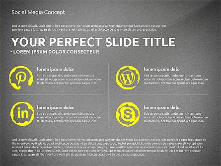 Social Media Presentation Concept Template, Slide 11, 03014, Presentation Templates — PoweredTemplate.com