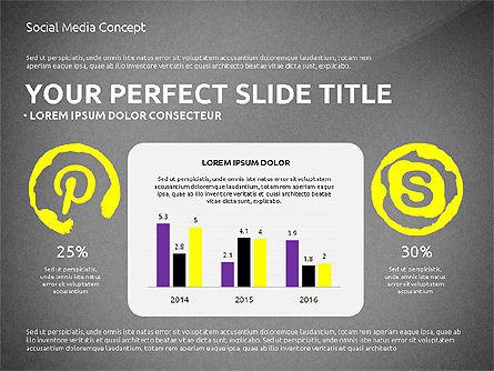 Social Media Presentation Concept Template, Slide 12, 03014, Presentation Templates — PoweredTemplate.com