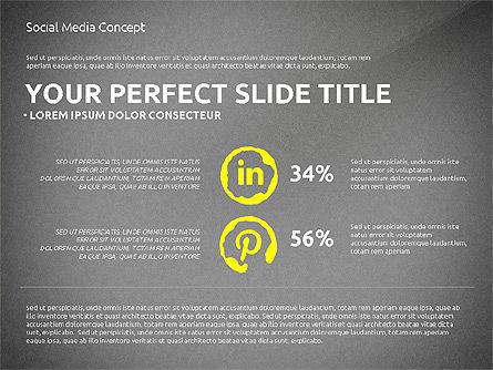 Social Media Presentation Concept Template, Slide 13, 03014, Presentation Templates — PoweredTemplate.com