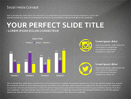 Social Media Presentation Concept Template, Slide 14, 03014, Presentation Templates — PoweredTemplate.com