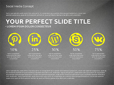Social Media Presentation Concept Template, Slide 15, 03014, Presentation Templates — PoweredTemplate.com