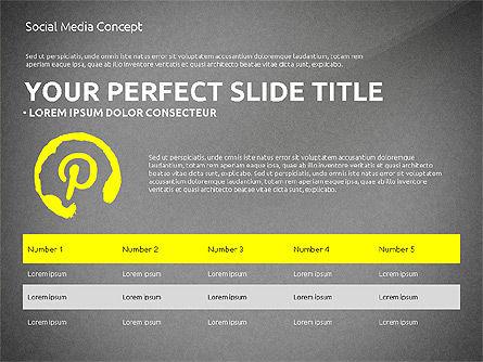 Social Media Presentation Concept Template, Slide 16, 03014, Presentation Templates — PoweredTemplate.com