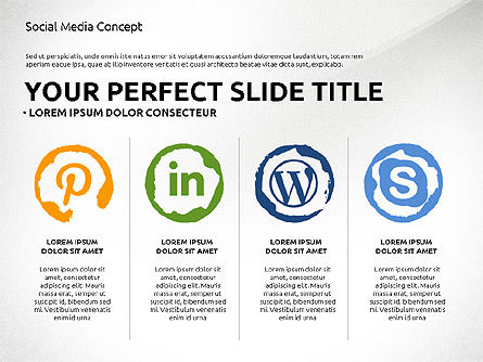 Social Media Presentation Concept Template, Slide 2, 03014, Presentation Templates — PoweredTemplate.com