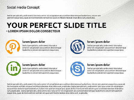 Social Media Presentation Concept Template, Slide 3, 03014, Presentation Templates — PoweredTemplate.com