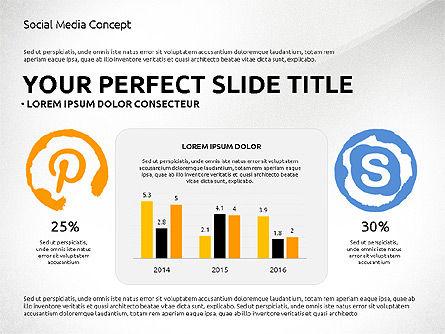 Social Media Presentation Concept Template, Slide 4, 03014, Presentation Templates — PoweredTemplate.com
