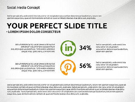 Social Media Presentation Concept Template, Slide 5, 03014, Presentation Templates — PoweredTemplate.com