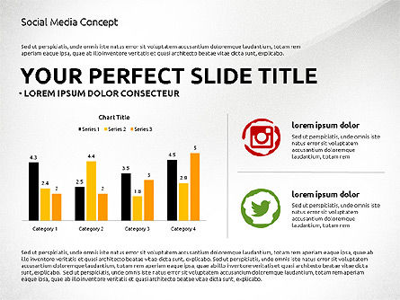 Social Media Presentation Concept Template, Slide 6, 03014, Presentation Templates — PoweredTemplate.com