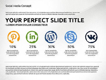 Social Media Presentation Concept Template, Slide 7, 03014, Presentation Templates — PoweredTemplate.com