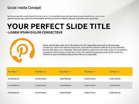 Social Media Presentation Concept Template, Slide 8, 03014, Presentation Templates — PoweredTemplate.com