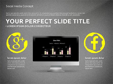 Social Media Presentation Concept Template, Slide 9, 03014, Presentation Templates — PoweredTemplate.com