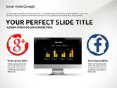 Presentation Templates: Plantilla de concepto de presentación de medios sociales #03014