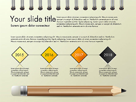 Presentation Templates: Presentation on Notebook Sheet with Pencil #03015