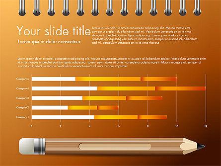 Presentation on Notebook Sheet with Pencil, Slide 10, 03015, Presentation Templates — PoweredTemplate.com