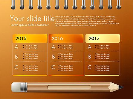 Presentation on Notebook Sheet with Pencil, Slide 11, 03015, Presentation Templates — PoweredTemplate.com