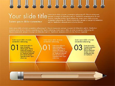 Presentation on Notebook Sheet with Pencil, Slide 12, 03015, Presentation Templates — PoweredTemplate.com