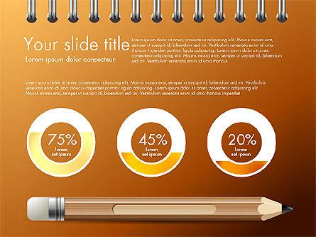Presentation on Notebook Sheet with Pencil, Slide 13, 03015, Presentation Templates — PoweredTemplate.com