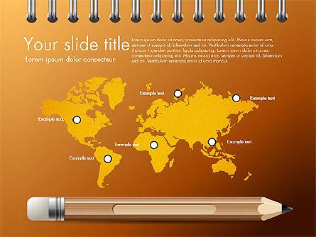 Presentation on Notebook Sheet with Pencil, Slide 15, 03015, Presentation Templates — PoweredTemplate.com