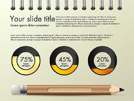 Presentation on Notebook Sheet with Pencil, Slide 5, 03015, Presentation Templates — PoweredTemplate.com