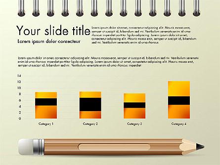 Presentation on Notebook Sheet with Pencil, Slide 6, 03015, Presentation Templates — PoweredTemplate.com