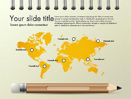 Presentation on Notebook Sheet with Pencil, Slide 7, 03015, Presentation Templates — PoweredTemplate.com