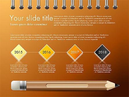 Presentation on Notebook Sheet with Pencil, Slide 9, 03015, Presentation Templates — PoweredTemplate.com