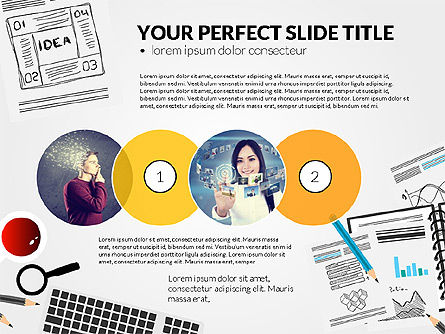 Presentation Templates: Awesome project presentatiesjabloon #03017