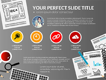 Awesome Project Presentation Template, Slide 12, 03017, Presentation Templates — PoweredTemplate.com