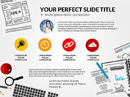 Awesome Project Presentation Template, Slide 4, 03017, Presentation Templates — PoweredTemplate.com