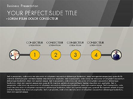 Business Presentation with Creative Charts, Slide 14, 03021, Presentation Templates — PoweredTemplate.com