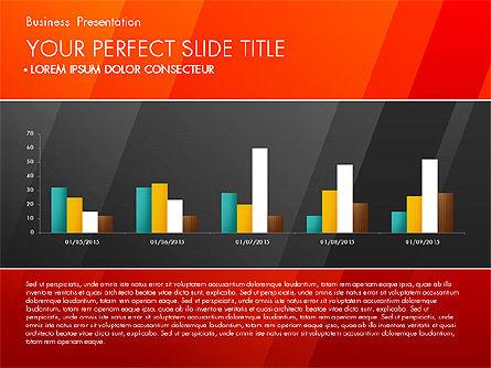 Business Presentation with Creative Charts, Slide 7, 03021, Presentation Templates — PoweredTemplate.com