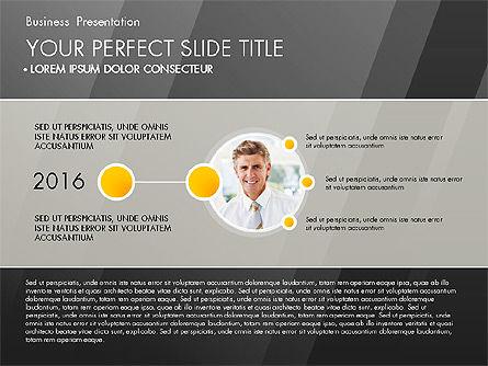 Business Presentation with Creative Charts, Slide 9, 03021, Presentation Templates — PoweredTemplate.com