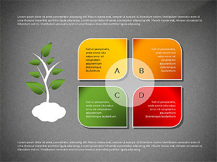 Growth Concept Diagrams, Slide 12, 03022, Process Diagrams — PoweredTemplate.com