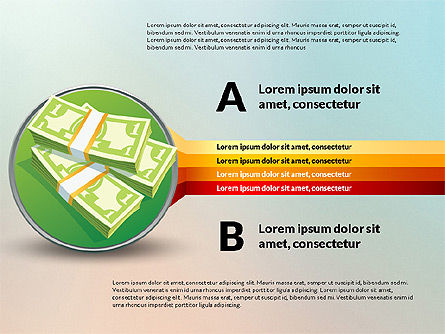 Stages and Options with Money, Slide 6, 03025, Stage Diagrams — PoweredTemplate.com