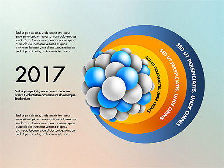 Presentation Template with Molecule Shape, 03027, Stage Diagrams — PoweredTemplate.com