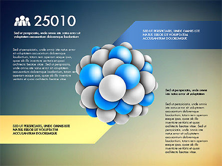 Presentation Template with Molecule Shape, Slide 12, 03027, Stage Diagrams — PoweredTemplate.com