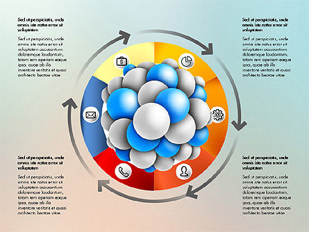 Presentation Template with Molecule Shape, Slide 3, 03027, Stage Diagrams — PoweredTemplate.com