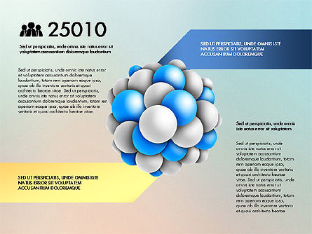 Presentation Template with Molecule Shape, Slide 4, 03027, Stage Diagrams — PoweredTemplate.com