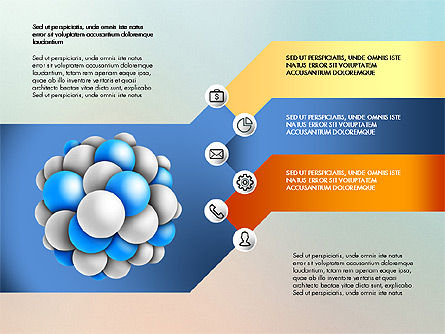 Presentation Template with Molecule Shape, Slide 5, 03027, Stage Diagrams — PoweredTemplate.com