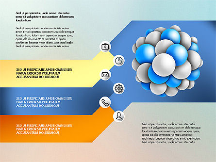 Presentation Template with Molecule Shape, Slide 6, 03027, Stage Diagrams — PoweredTemplate.com