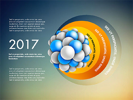 Presentation Template with Molecule Shape, Slide 9, 03027, Stage Diagrams — PoweredTemplate.com