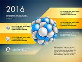 Presentation Template with Molecule Shape#10
