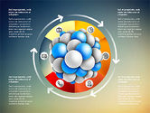 Presentation Template with Molecule Shape#11