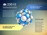 Presentation Template with Molecule Shape#12