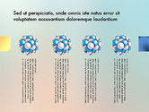 Presentation Template with Molecule Shape#8